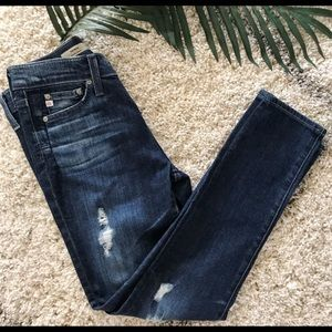 AG Adriano Goldschmied Distressed Jeans